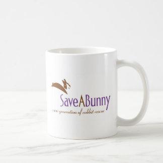 Logotipo de SaveABunny Taza Básica Blanca