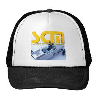 Logotipo de Scm con el coche de ranura de plata Gorro De Camionero