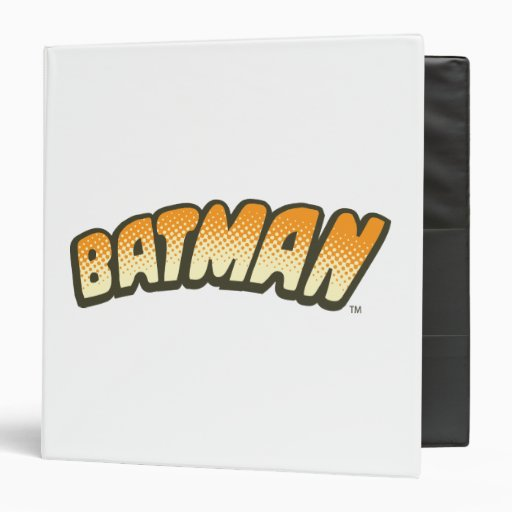 Logotipo de semitono anaranjado de Batman