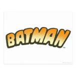 Logotipo de semitono anaranjado de Batman Postal