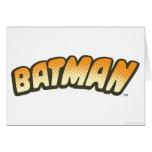 Logotipo de semitono anaranjado de Batman Felicitación