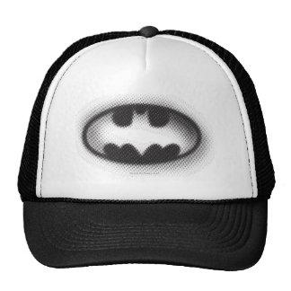 Logotipo de semitono del símbolo el | de Batman Gorras