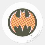 Logotipo de semitono rojo de Batman Pegatina Redonda