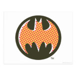 Logotipo de semitono rojo de Batman Postal