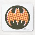 Logotipo de semitono rojo de Batman Tapetes De Raton