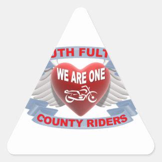 Logotipo de SFCR Pegatina Triangular