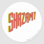 Logotipo de Shazam rojo/amarillo Etiquetas