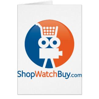 Logotipo de ShopWatchBuy Tarjeta De Felicitación
