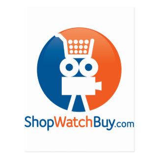 Logotipo de ShopWatchBuy Tarjeta Postal