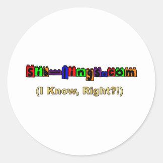 logotipo de Sib-Lings.com Pegatinas Redondas