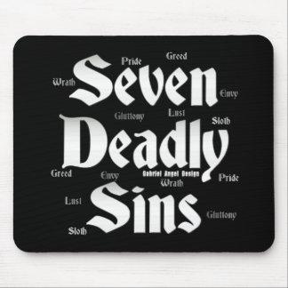 Logotipo de siete pecados mortales tapete de raton