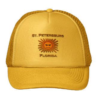 Logotipo de St Petersburg la Florida Sun Gorras De Camionero