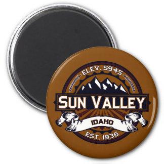 Logotipo de Sun Valley vibrante Imán Redondo 5 Cm