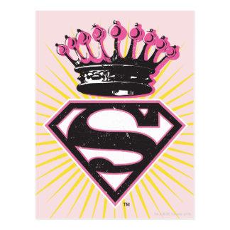 Logotipo de Supergirl con la corona Tarjetas Postales