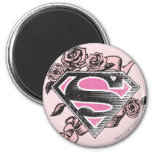 Logotipo de Supergirl con los rosas Iman De Frigorífico