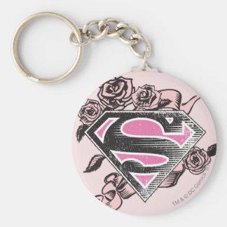 Logotipo de Supergirl con los rosas Llaveros Personalizados