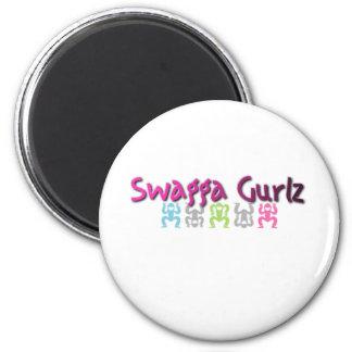 Logotipo de Swagga Gurlz Imán Redondo 5 Cm