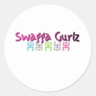 Logotipo de Swagga Gurlz Pegatina Redonda