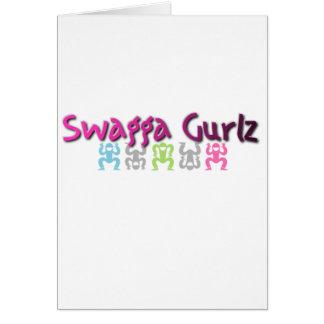 Logotipo de Swagga Gurlz Tarjeta De Felicitación