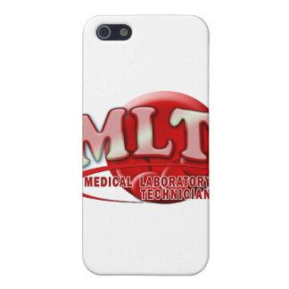 LOGOTIPO DE SWOOSH DEL LABORATORIO DE RBC MLT - TE iPhone 5 CARCASAS