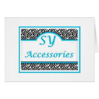 Logotipo de SY Acessories Tarjeta De Felicitación