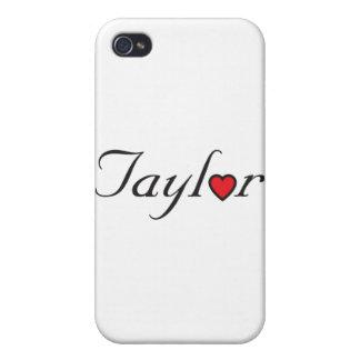 Logotipo de Taylor iPhone 4 Protectores