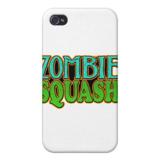 Logotipo de TM de la calabaza del zombi iPhone 4 Carcasa