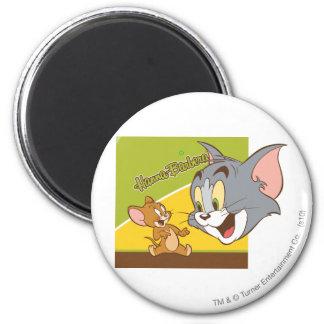 Logotipo de Tom y Jerry Hanna Barbera Imán Redondo 5 Cm