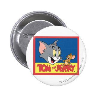 Logotipo de Tom y Jerry plano Pin Redondo 5 Cm