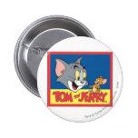 Logotipo de Tom y Jerry plano Pin Redondo De 2 Pulgadas