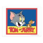 Logotipo de Tom y Jerry plano Tarjeta Postal