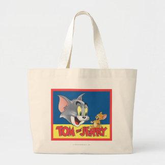 Logotipo de Tom y Jerry sombreado Bolsa Tela Grande