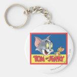 Logotipo de Tom y Jerry sombreado Llavero Personalizado
