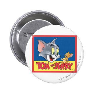 Logotipo de Tom y Jerry sombreado Pin Redondo De 2 Pulgadas