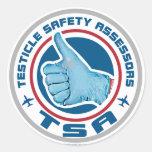 Logotipo de TSA - asesores de la seguridad del Pegatina Redonda