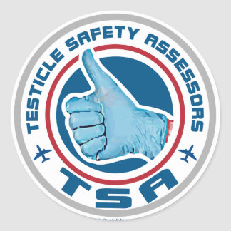 Logotipo de TSA - asesores de la seguridad del tes Etiqueta Redonda