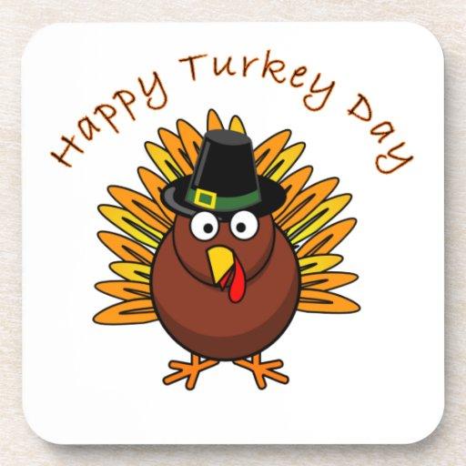 Logotipo de Turquía del Día de Acción de Gracias d Posavasos De Bebidas