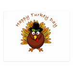 Logotipo de Turquía del Día de Acción de Gracias d Tarjeta Postal
