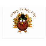 Logotipo de Turquía del Día de Acción de Gracias Postal