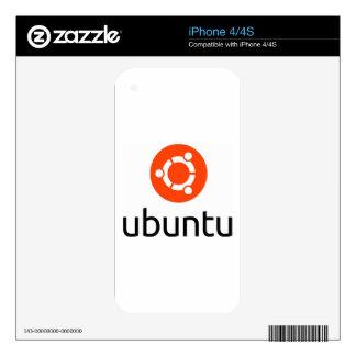 Logotipo de Ubuntu Linux Calcomanías Para El iPhone 4S