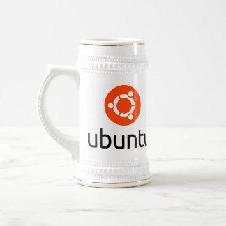 Logotipo de Ubuntu Linux Jarra De Cerveza
