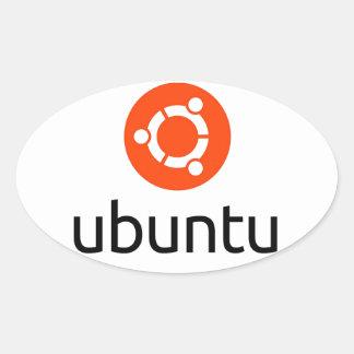 Logotipo de Ubuntu Linux Pegatinas De Oval