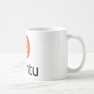 Logotipo de Ubuntu Linux Taza Básica Blanca