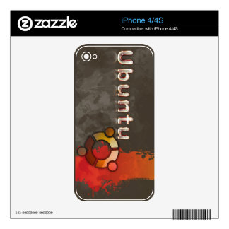 Logotipo de Ubuntu Linux y círculo de amigos Skin Para El iPhone 4S