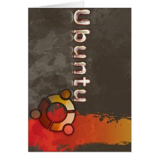 Logotipo de Ubuntu Linux y círculo de amigos Tarjeta De Felicitación