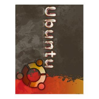 Logotipo de Ubuntu Linux y círculo de amigos Postal
