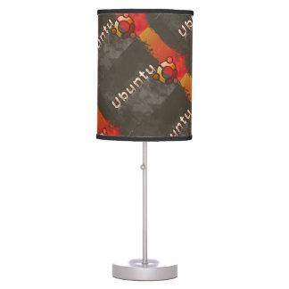 Logotipo de Ubuntu Linux y círculo de la lámpara