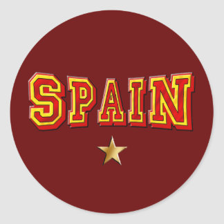 Logotipo de una estrella de España Pegatina Redonda