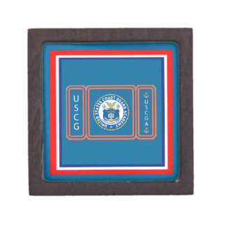 Logotipo de USCGA Cajas De Joyas De Calidad