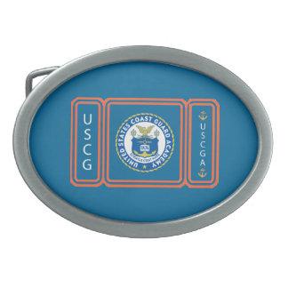 Logotipo de USCGA Hebilla Cinturón Oval